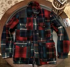 Ralph Lauren Gent's Wool Patchwork Size Medium Jacket New Without Tags Red/Green