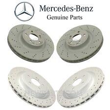 Mercedes R172 SLC43 AMG Turbo 17 Set of 2 Front & Rear Brake Disc Rotors Genuine