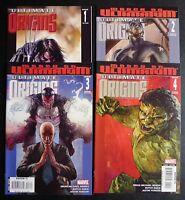 Ultimate Origins 1 2 3 4 - 2008 Marvel Comics All NM Near Mint 3 Variant Covers