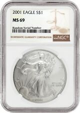 2001 $1 Silver American Eagle NGC MS69