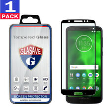 GLASAVE FULL COVER Tempered Glass Screen Protector For Motorola MOTO G6