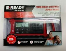E READY EMERGENCY COMPACT CRANK RADIO MIDLAND 25 HOUR BATTERY ER210 CHARGER LOOK