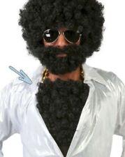 Pelucas y postizos color principal negro de pelo para disfraces y ropa de época