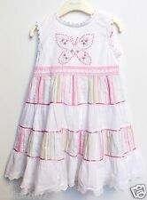 BNWT Girls Monsoon Cotton  Embroidered Party Dress with Matching Pants Age 2-3