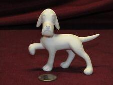 Ceramic Bisque Vintage Bobble Head Dog Eyes Close StandingU-Paint Ready to Paint