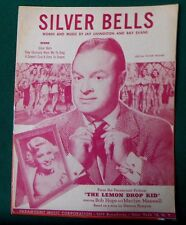 "1940 BOB HOPE Original Movie Sheet Music ""Silver Bells"" LEMON DROP KID Photos"
