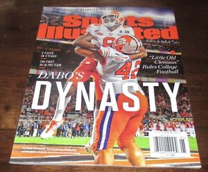 JUSTYN ROSS SPORTS ILLUSTRATED MAGAZINE NO LABEL CLEMSON TIGERS FOOTBALL