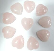 25*23mm Rose Quartz Gemstone heart CAB CABOCHON Flat Back Beads Jewelry Design