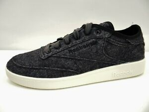 Reebok CLUB C Wool & Corn Shoes Unisex Sneaker Low Schwarz Chalk Wolle Gr.42