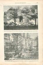 Excursion la grande Muraille de Chine Ruines du Palais d'été Asie GRAVURE 1888