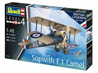 1:48 scale REVELL 100 Years RAF: Sopwith Camel Aircraft Model Kit RV03906