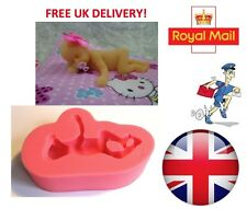 3D Sleeping Baby Christening Mould Fondant Cake Topper Modelling Tools