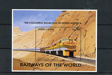Sierra Leone 1995 MNH Railways of World 1v S/S II Trains California Zephyr