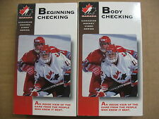 Canadian Hockey Body Checking and Beginning Checking Instructional Vhs (2)