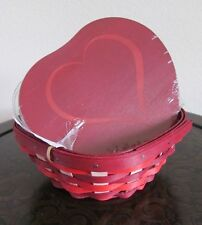 LONGABERGER~2017 Sweetheart® Small Heart Basket Protector & Woodcrafts Lid~NWT!