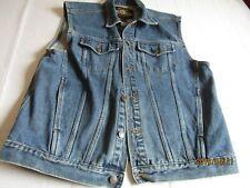 Men's size small denim jeans sleeveless jacket vest Guide Gear   3