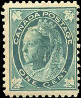1897 Mint H Canada F Scott #67 1c Maple Leaf Issue Stamp