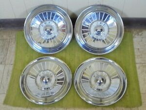 """1957 Ford HUB CAPS 14"""" Set of 4 Wheel Covers Hubcaps 57"""