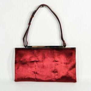 Authentic Gucci Deep Red Velour Canvas handbag/Shoulder Bag