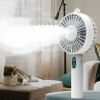 KE_ Mini Cooling Fan USB Desk Humidifier Misting Water Spray Portable Air Cool