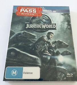Jurassic World Blu Ray NEW & SEALED** Rated M Movie 🍿 Regjon B Aus Dinosaurs