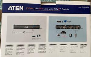 ATEN CS1782A KVM Switch Dual-Link DVI, USB, Audio, 2 Ports #7.0