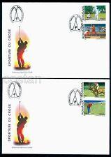 2002 Golf,Baseball,Field hockey,Polo,Golf,Stick sports,Romania,Mi.5666,FDC,rare!