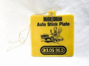 RARE Mark and Brian - KLOS 95.5 Auto Stink Plate - Vintage