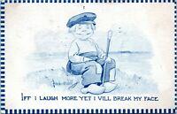 1910 Bernhardt Wall Laughing Dutch Boy Moundsville West Virginia Postcard BJ