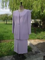 JACQUES VERT Special Occasion MOB Skirt Top & Jacket Suit With Sparkle UK 18