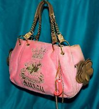 Juicy Couture Pink Terry Bronze Just Another Day n Paradise Baby Fluffy Hobo Bag