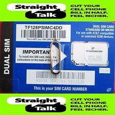 Straight Talk At&T Compatible Standard / Micro Dual Size Sim Card
