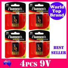 4pcs Super Alkaline 9V Smoke Alarm Battery Premium Quality 6LR61 Expire 2021