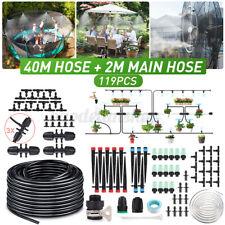 131 Ft Auto Micro Drip Irrigation System Plant Garden Self Watering Hose Kit Diy