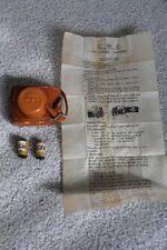 1950's Mini C.M.C SPY CAMERA & CASE & 2 Rolls Film W/Box & Instructions
