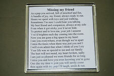 Best friend memorial poem - Memories of your four legged friend - gift - COASTER