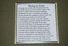 Best friend memorial poem - Memories of your four legged friend - gift - COASTER