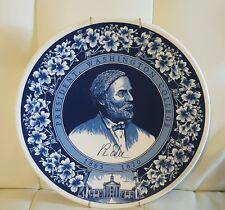 Royal Goedewaagen Blue Delft Holland Robert E. Lee Collector Plate Collectible