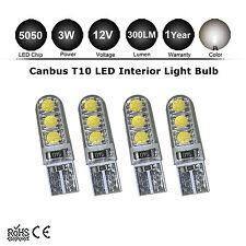 4x Warm White T10 194 168 W5W 3W 6SMD 5050 5000k SILICA LED Interior Light Bulbs