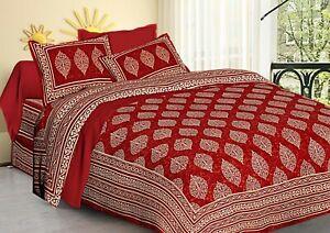 Batik Queen size Duvet Cover with 2 zipper pillow cover set 100 % cotton 220 TC