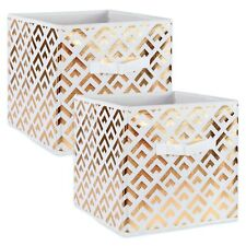 Storage Cube Basket Fabric Drawers Gold Cubby Organizer Box Bin 2 Pack 11 Colors