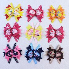 Fashion 18pc Disney Girls Hair Bow Boutique Grosgrain Hair Accessories 015-1-9-K