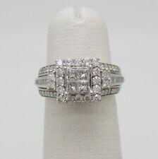Zales 1CT Diamond Halo Solitaire Engagement Wedding Ring Bridal 10K White Gold