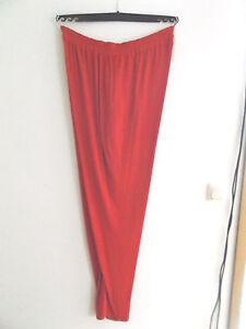 Hose aus Waffelpiquet, schmales Bein, extra lang, Gr. 48 in Fb. rot