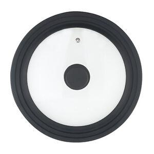 Universaldeckel Ersatzdeckel Glas Silikon schwarz für 16-18.20 cm Topf + Pfanne