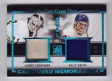 2016 Leaf ITG Used Gerry Cheevers Billy Smith Blue Spectrum Dual Jersey SP (3/3)