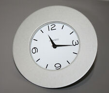 "Movado Desk/Mantle Clock NULL ARCHTYPE Silver ""TSI-102-M"" White Face"