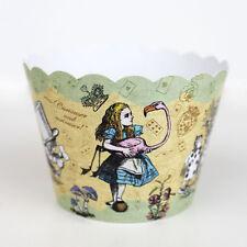 Vintage Alice in Wonderland / Mad Hatters Tea Party Cupcake Wrappers Pack 12