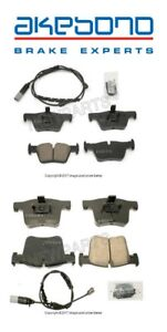 For BMW F22 F30 F32 F33 F34 Front & Rear Disc Brake Pad Sets & Sensors Akebono