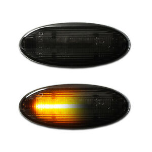 SCHWARZE dynamische LED Seitenblinker Smart Forfour W 453 (ab Bj. 2014-)